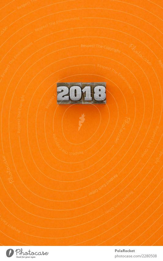 #AS# orange 2018! Kunst ästhetisch orange-rot 2017 Silvester u. Neujahr Jahr Grafische Darstellung Farbfoto mehrfarbig Innenaufnahme Studioaufnahme Nahaufnahme