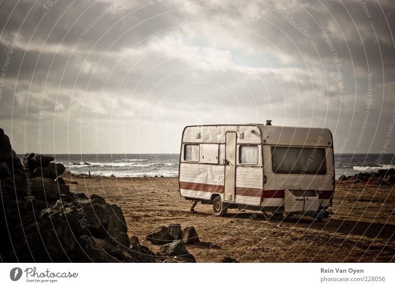 Sommer Strand Ferien & Urlaub & Reisen Meer ruhig Ferne Freiheit Sand Wellen Ausflug wandern Insel Tourismus Gelassenheit Camping Sightseeing