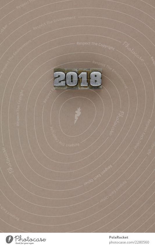 #AS# 2 0 1 8 Kunst ästhetisch 2018 2017 Ziffern & Zahlen Silvester u. Neujahr Jahr Jahreszahl braun beige graphisch Farbfoto mehrfarbig Innenaufnahme