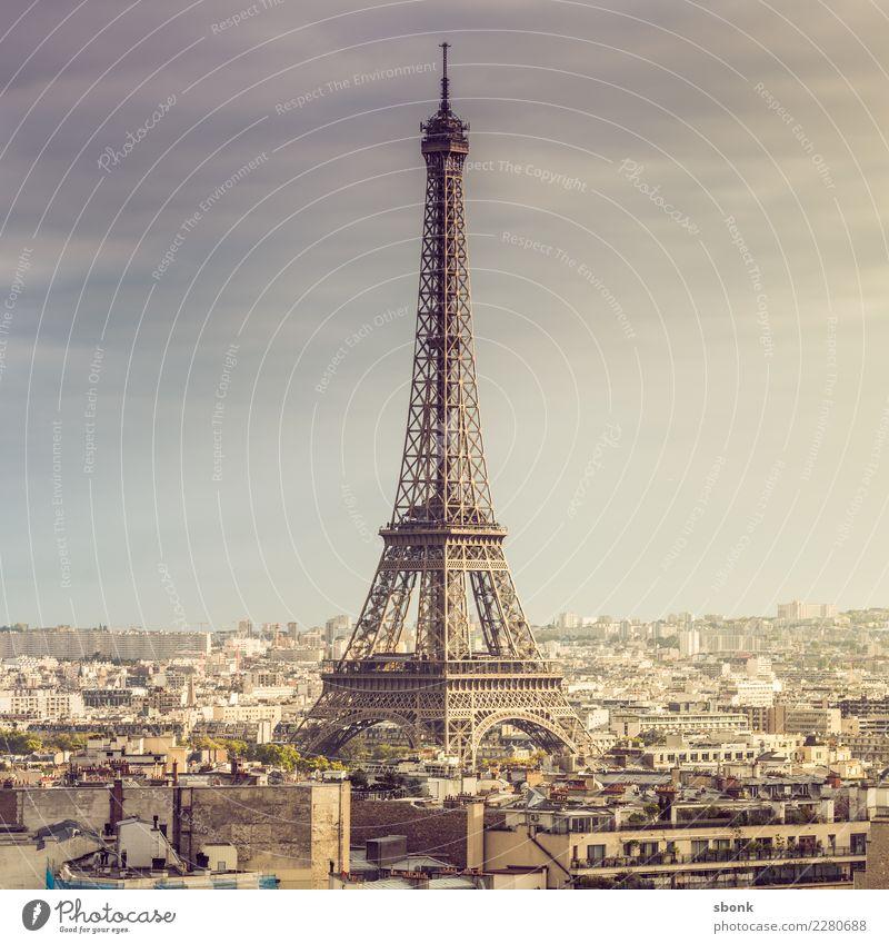 Tour Eiffel Tourismus Ausflug Abenteuer Ferne Paris Frankreich Stadt Hauptstadt Skyline Tour d'Eiffel Ferien & Urlaub & Reisen Liebe Farbfoto