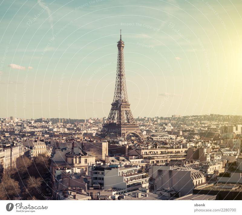 Tour Eiffel Paris Stadt Hauptstadt Skyline Sehenswürdigkeit Wahrzeichen Denkmal Tour d'Eiffel Ferien & Urlaub & Reisen Eiffeltower Großstadt France French