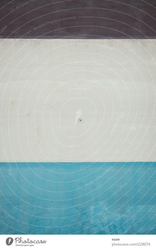 Mittelschicht blau weiß Wand Stil Hintergrundbild braun Fassade Design modern Streifen einfach Teilung Loch graphisch mehrfarbig minimalistisch