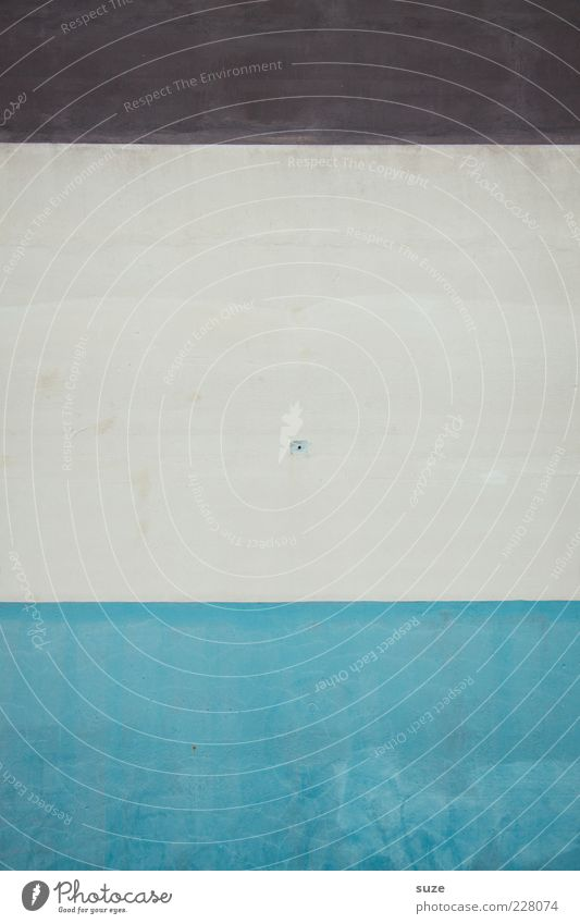 Mittelschicht Stil Design Fassade Streifen einfach modern blau braun weiß Wand Teilung Grafische Darstellung graphisch simpel Loch Strukturen & Formen