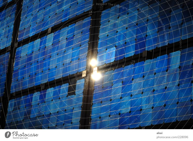 Energy! blau schwarz Ordnung Wachstum Energiewirtschaft Studium Zukunft Industrie Technik & Technologie Wissenschaften Sonnenenergie Textfreiraum eckig Solarzelle Fortschritt High-Tech