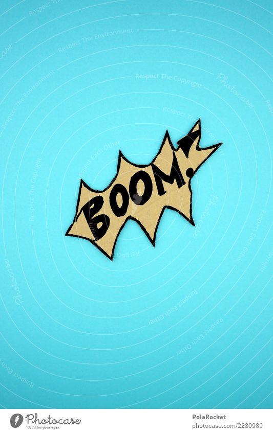 #AS# BOOM! ..und weiter geht's Kunst Aggression Karton Hochkonjunktur Überraschung Knall Explosion knallig verrückt Kreativität blau Bombe Wahnsinn
