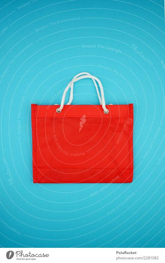 #AS# Shopping BAG kaufen rot Einkaufstasche Tragegriff blau Einkaufswagen Einkaufszentrum Einkaufskorb Ladengeschäft Bedürfnisse Konsum konsumgeil Öffnung