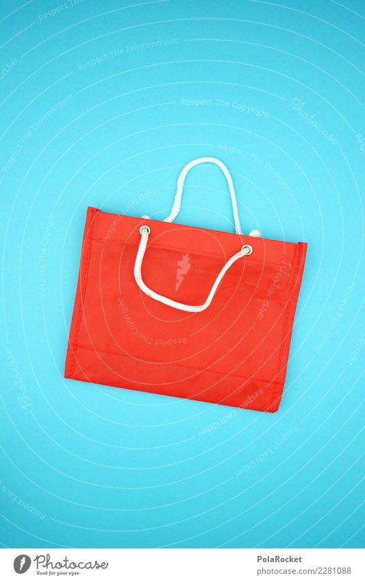#AS# Shopping BAG II kaufen blau rot Tragegriff Einkaufswagen Einkaufszentrum Einkaufscenter Einkaufskorb Einkaufstasche Wahnsinn Nachfrage Konsum konsumgeil