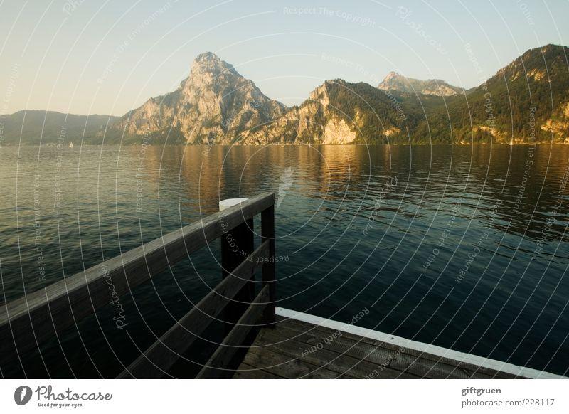 all quiet Himmel Natur Wasser Sommer ruhig Ferne Umwelt Berge u. Gebirge Landschaft Holz See Wetter Felsen Urelemente Sauberkeit Hügel