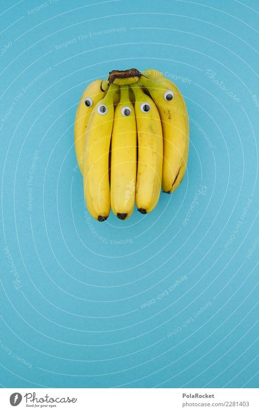 #AS# Bananions Kunst ästhetisch Banane Bananenstaude Bananenschale Bananenplantage Bananenmagazin gelb Frucht exotisch Südfrüchte blau Auge kindisch Spielen