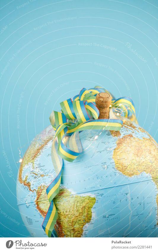 #AS# planet party Kunst ästhetisch Erde Weltkarte Globus Kontinente blau Planet Party Partygast Partystimmung Partyservice Partynacht Silvester u. Neujahr