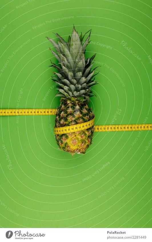 #AS# Ananas einfach gewickelt Kunst Kunstwerk ästhetisch Ananasblätter Ananasplantage Frucht exotisch Maßband Diät messen Kalorie abnehmend Gesunde Ernährung
