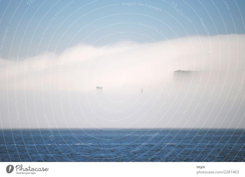 Geisterschiff II Himmel Ferien & Urlaub & Reisen Meer Wolken Umwelt Küste Tourismus Wasserfahrzeug Verkehr Nebel Abenteuer Klima Hafen Unwetter Schifffahrt