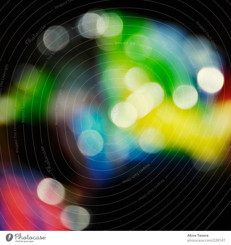 Bunt mit Flecken Verpackung glänzend blau mehrfarbig gelb grün violett rot schwarz weiß Design Kreativität Licht Unschärfe Farbfoto Nahaufnahme Menschenleer