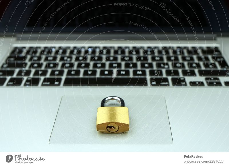 #AS# KeyLocker Notebook Angst Datenschutz Schloss Tastatur Gesetze und Verordnungen silber Gold Firewall Internet Überwachung Sicherheit Informationstechnologie