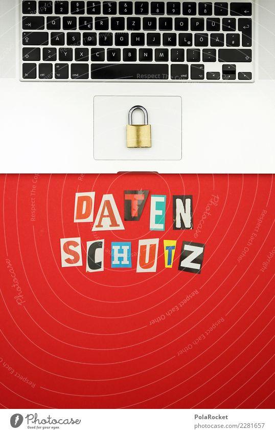 #AS# sicher ist sicher Arbeitsplatz Büro Vertrauen Daten Informationstechnologie Datenschutz Notebook Buchstaben Schloss Sicherheit Überwachung