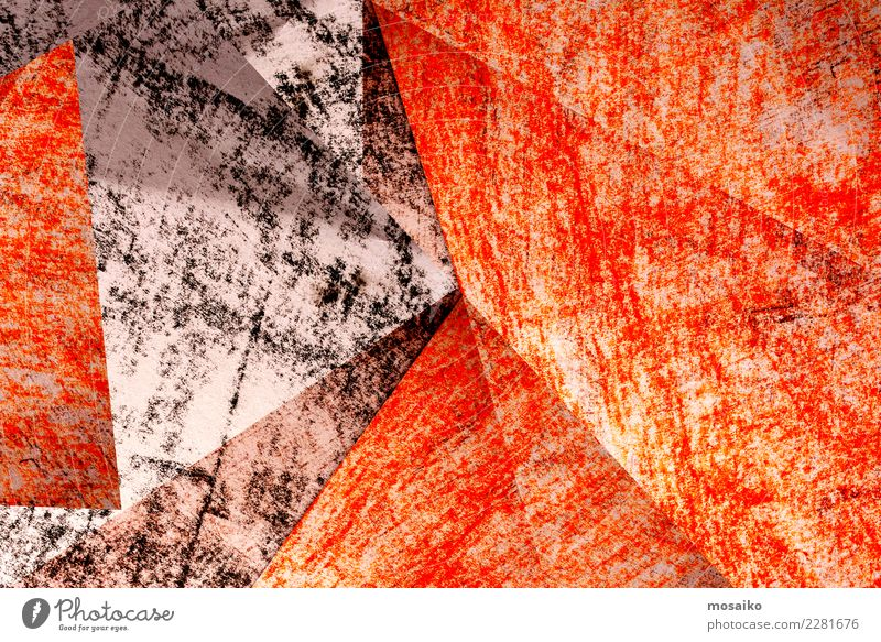 Collage - Graphik Design Lifestyle elegant Stil Freude Büro Kunst Papier ästhetisch Idee Inspiration Kreativität Stimmung Symmetrie Pastellton orange Kontrast