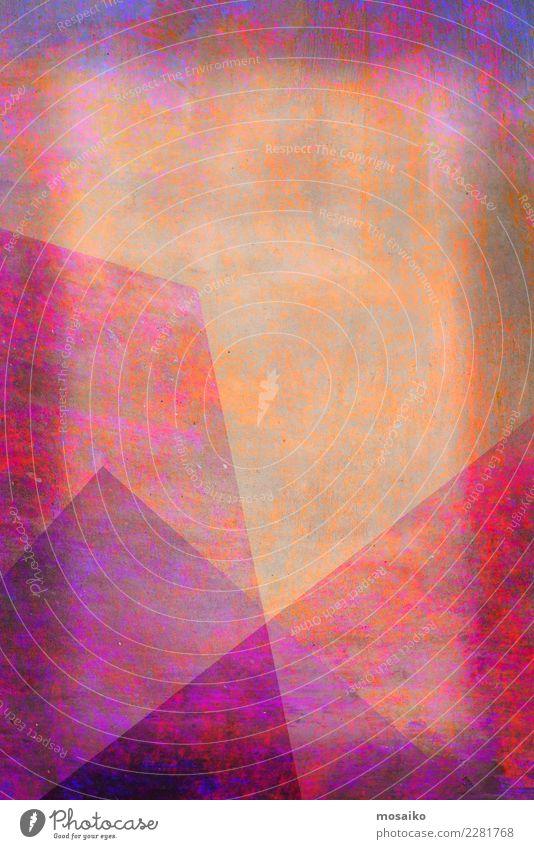 Graphische Formen Lifestyle elegant Stil Design Kunst Kunstwerk ästhetisch außergewöhnlich trendy einzigartig schön Spitze gelb violett orange rosa