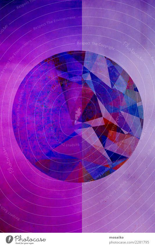Kreisrund 8 blau Farbe Einsamkeit Stil Kunst Mode Stimmung Design Zufriedenheit Linie elegant ästhetisch Idee Zeichen Grafik u. Illustration