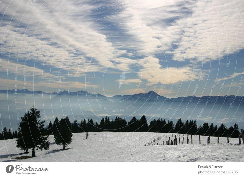 The Eye Ferien & Urlaub & Reisen Ferne Freiheit Winter Schnee Winterurlaub Berge u. Gebirge Umwelt Natur Landschaft Luft Himmel Wolken Sonnenlicht Wetter Alpen