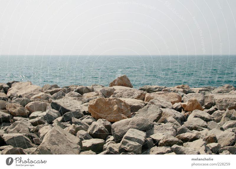 Dubai Palmeninseln Wasser Himmel Sommer Küste Meer Stein blau braun Gefühle Ferien & Urlaub & Reisen Farbfoto Außenaufnahme Menschenleer Tag