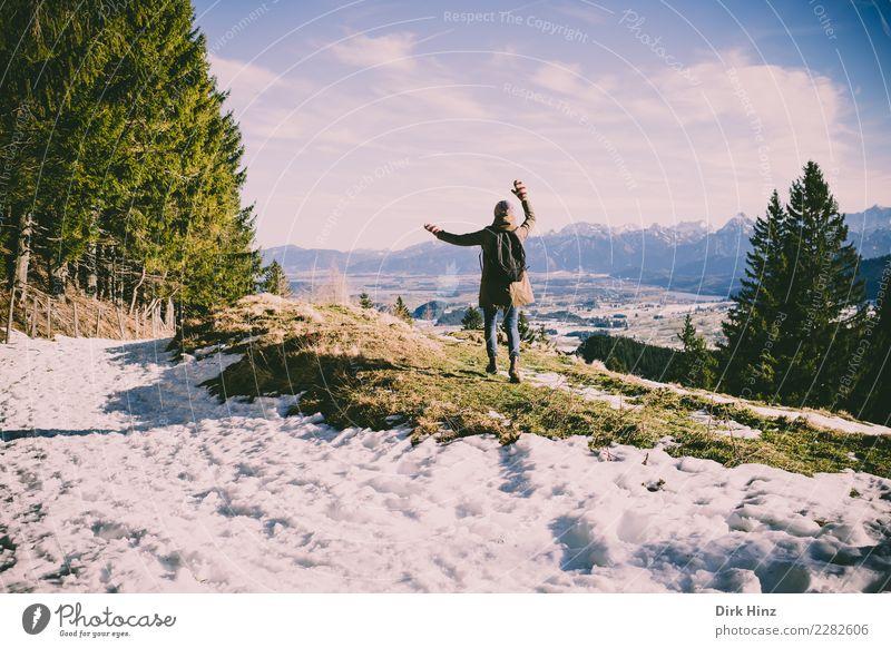 Kappeler Alp / Nesselwang (Bayern) Freude Ferien & Urlaub & Reisen Tourismus Ausflug Ferne Freiheit Winter Schnee Winterurlaub Berge u. Gebirge wandern Mensch