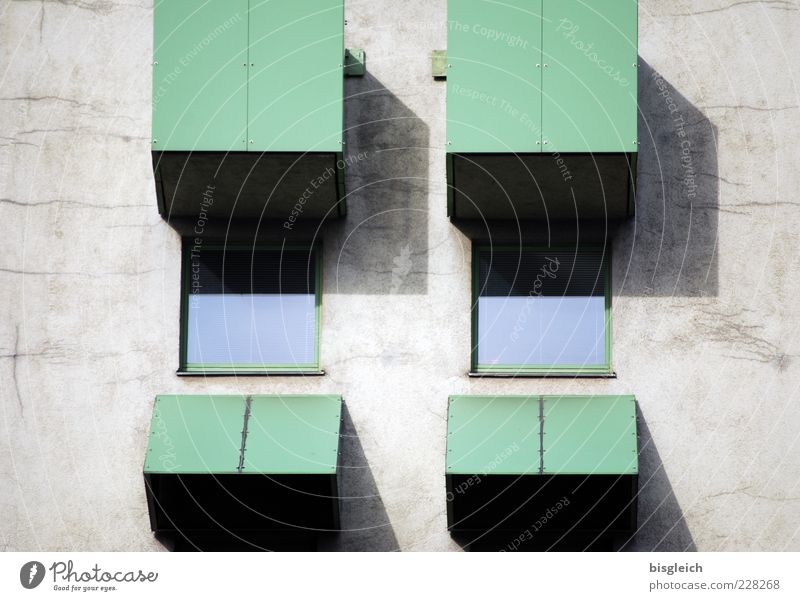 Augenfenster grün Fenster Wand Mauer geschlossen außergewöhnlich Symbole & Metaphern Glasscheibe