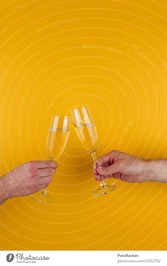 #AS# Cheers Guys Kunst ästhetisch Glas Sekt Sektglas Sektperlen Zuprosten Gratulation Glückwünsche Feste & Feiern Zusammensein Alkohol Alkoholisiert