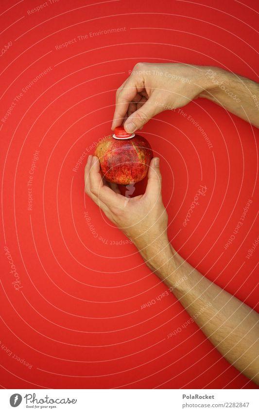#AS# Direktsaft Granatapfel Natur Hand rot Umwelt ästhetisch frisch Kreativität Getränk lecker graphisch Bioprodukte nachhaltig direkt ökologisch Saft aufmachen