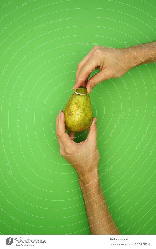 #AS# Direktsaft Birne Gesunde Ernährung grün Hand Kunst außergewöhnlich ästhetisch frisch Kreativität Kitsch Bioprodukte Glühbirne ökologisch saftig Saft