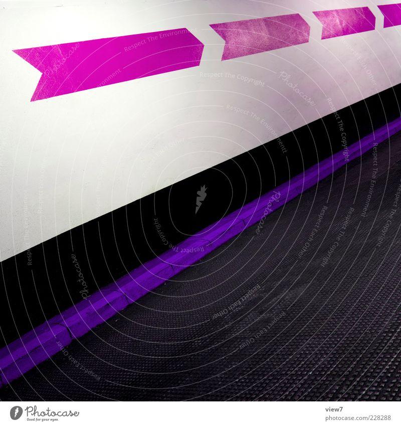 TURBO Haus Mauer Wand Verkehrswege Stein Beton Linie Streifen authentisch einfach frisch einzigartig neu oben positiv rosa Design Parkhaus Pfeile Richtung