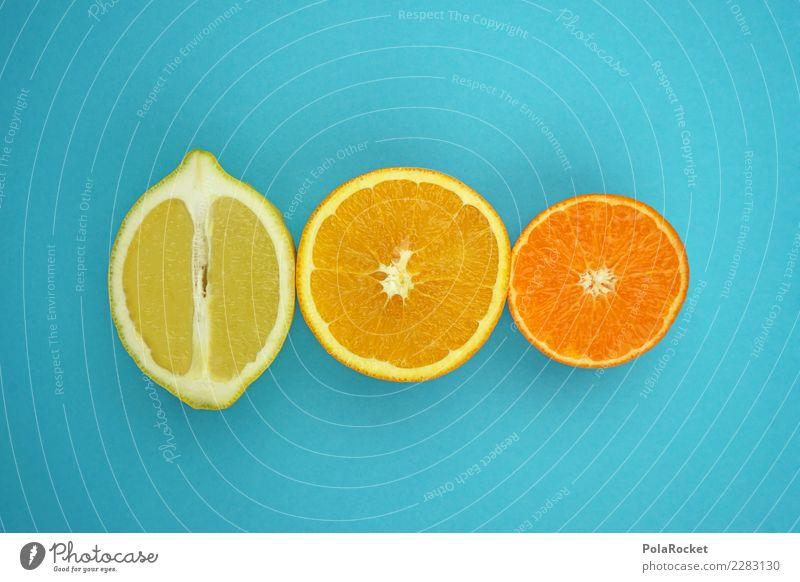#AS# süßes oder saures ? Fitness Sport-Training Diät blau Orange Mandarine Zitrone gelb sauer Kontrast Experiment Gesunde Ernährung Gesundheit Südfrüchte