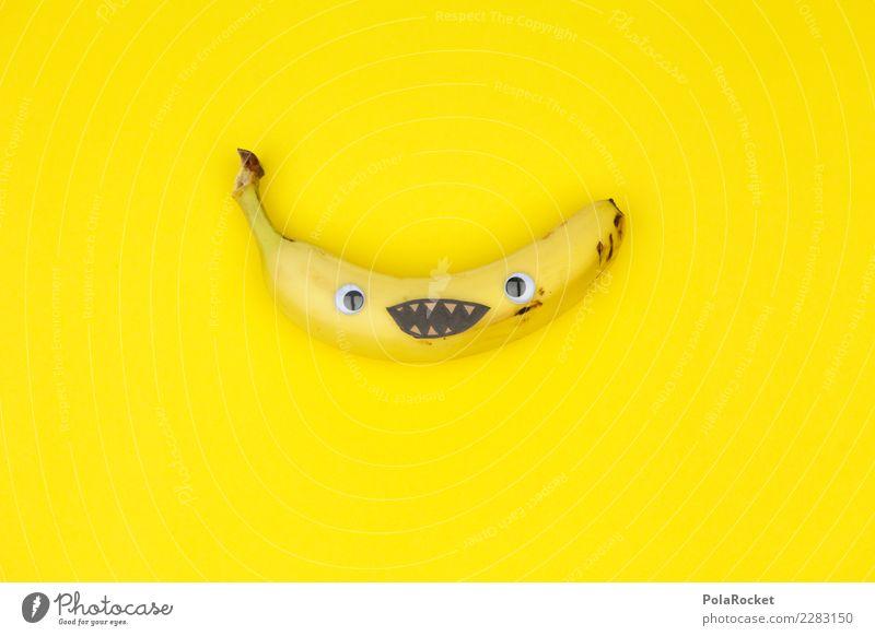 #AS# Banana Smile Kunst Kunstwerk ästhetisch Banane Bananenschale Bananenmagazin lachen Lächeln lustig Unsinn Spielen kindisch Freude spaßig Spaßgesellschaft