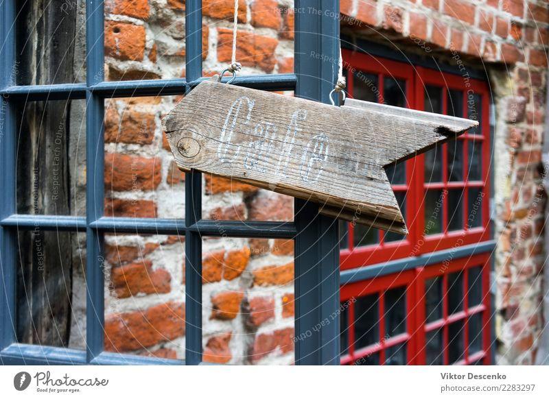 Cafe-Schild in der Altstadt Frühstück Mittagessen Abendessen Getränk kaufen Design Ferien & Urlaub & Reisen Sommer Haus Dekoration & Verzierung Restaurant