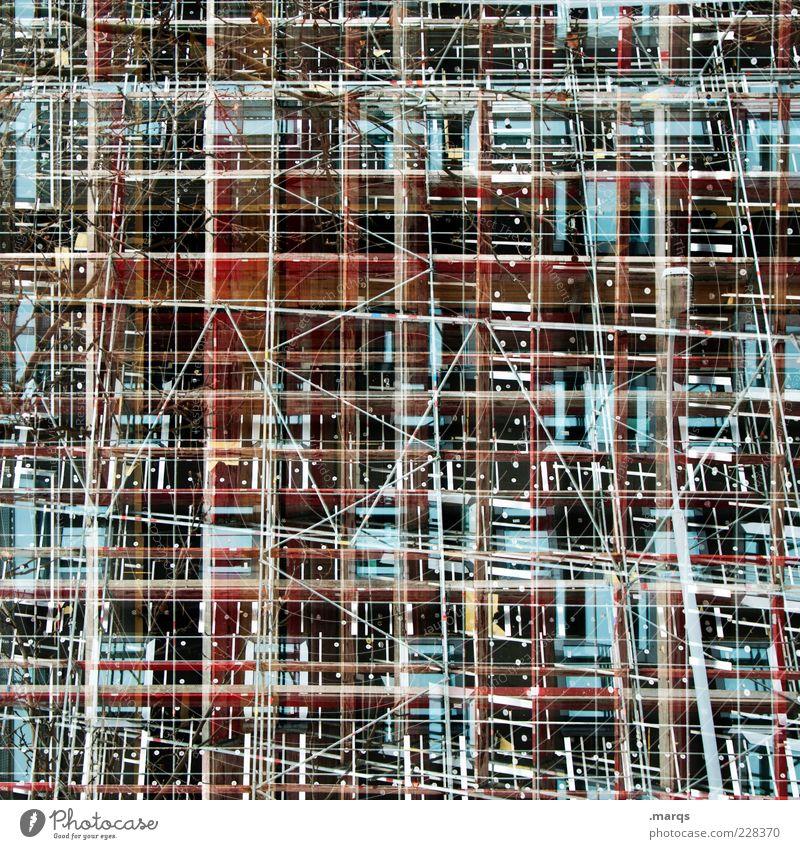 Framework Architektur Stil Linie Hintergrundbild Design verrückt Coolness Netzwerk Wandel & Veränderung einzigartig außergewöhnlich skurril Doppelbelichtung