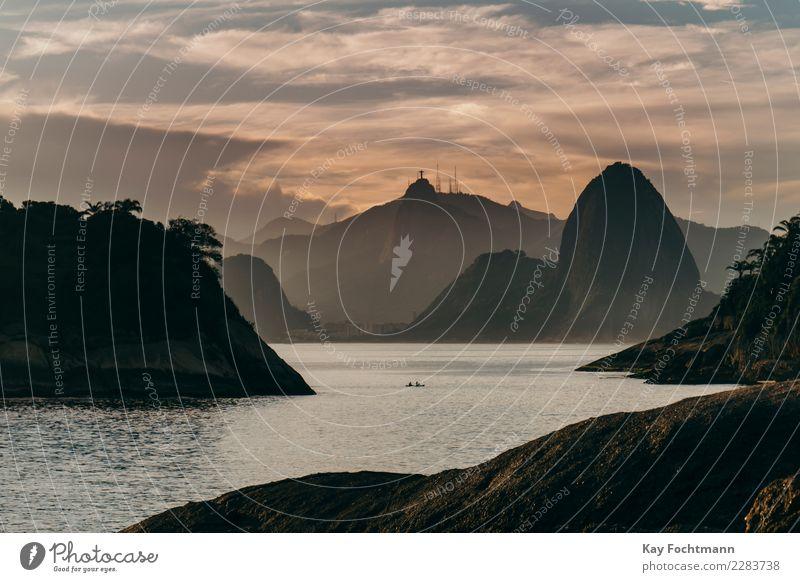 Blick auf Rio de Janeiro, Brasilien harmonisch Wohlgefühl Erholung ruhig Ferien & Urlaub & Reisen Tourismus Abenteuer Ferne Freiheit Sightseeing Städtereise