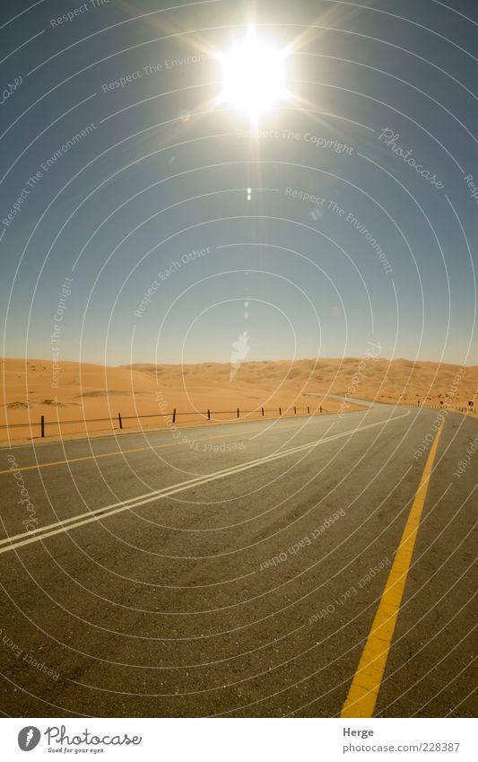Natur Sonne Landschaft Sand Verkehr Bauwerk