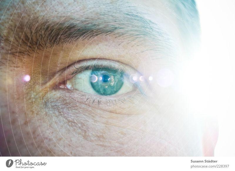 //600// Augenblicke Mann grün Erwachsene Gesicht hell Kraft glänzend natürlich maskulin authentisch außergewöhnlich Macht beobachten 18-30 Jahre Leidenschaft