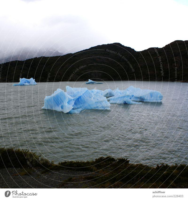 Braucht jemand Cocktaileis? Landschaft Urelemente Wolken Klimawandel schlechtes Wetter Wind Regen Eis Frost Berge u. Gebirge Wellen Küste Meer Coolness kalt