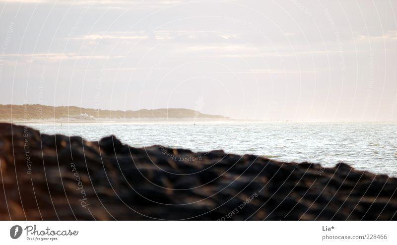 ... dahinter liegt das Paradies Natur Wasser Ferien & Urlaub & Reisen Meer Strand Ferne Umwelt Landschaft Stein
