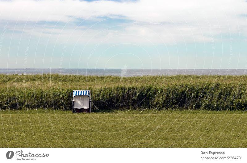 Windgeschützt Sommer Strand Meer Umwelt Natur Landschaft Wasser Himmel Frühling Schönes Wetter Gras Küste Seeufer Bucht Fjord Nordsee Erholung weich