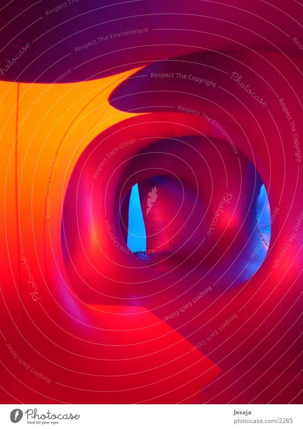 Raumschiff Farbe hell Raum Architektur UFO Gang Gummi Futurismus abstrakt Raumfahrzeuge