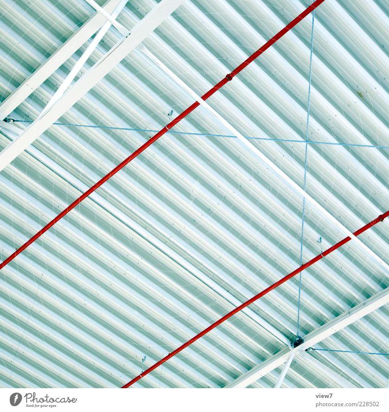 Grid :: Metall Linie Streifen authentisch frisch groß modern oben rot weiß Beginn ästhetisch Design elegant Ordnung Präzision rein Ferne Surrealismus Wellblech