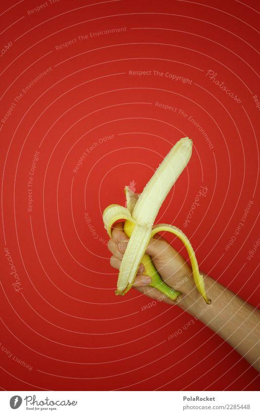 #AS# Take a bananaaaaa Hand rot Essen gelb Sport Frucht Eis frisch Kreativität süß Energie Fitness stoppen Sport-Training Markt direkt