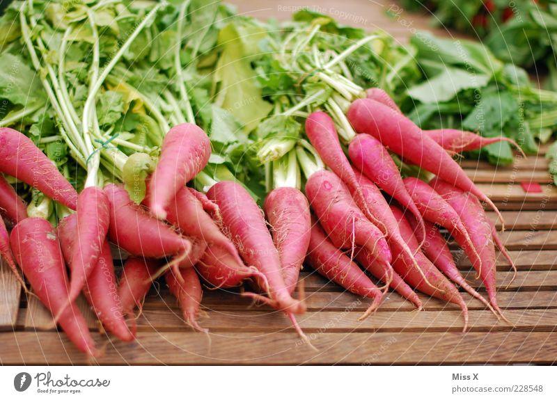 Rrroda Rrreddich Lebensmittel Gemüse Ernährung Bioprodukte Vegetarische Ernährung frisch lang lecker Spitze rot Ernte Rettich roter Rettich Wurzelgemüse