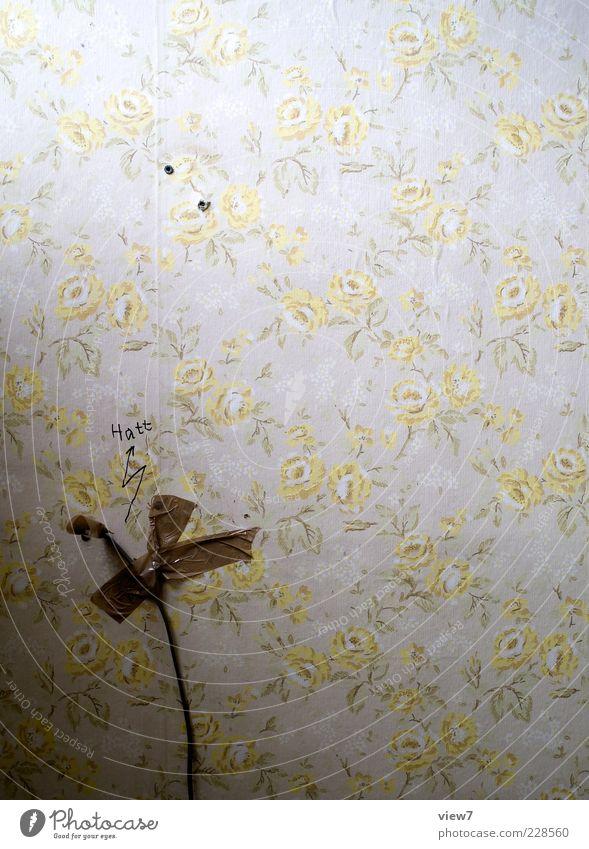 HAtt! alt gelb Wand braun Design Energie planen authentisch einzigartig retro Dekoration & Verzierung Ende rein Tapete Ornament Endzeitstimmung