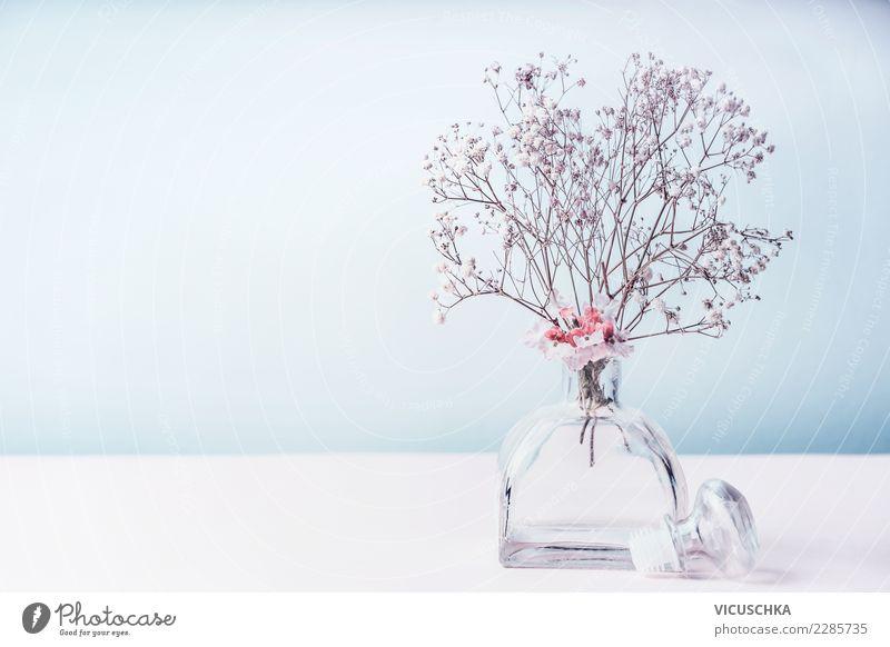 Wellnesshintergrund mit Aromatherapie Pflanze blau schön Gesundheit Hintergrundbild Stil Design Tisch Wohlgefühl rein Körperpflege Duft Alternativmedizin