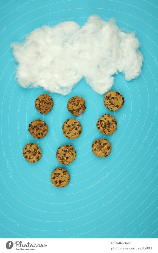 #AS# Cookie Rain, Cooookie Raaain Kunst ästhetisch cookie Keks Comic Kreativität Wolken viele lecker Snack Snackbar Idee außergewöhnlich blau Himmel Wetter