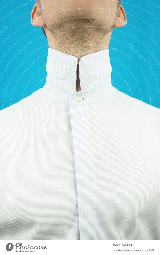 #AS# Hoher Kragen I Kunst kaufen Anzug Kragenknopf Hemd Hemdkragen Business Business District maskulin Mann Hals Ohr Hochmut Bänker Bankkaufmann