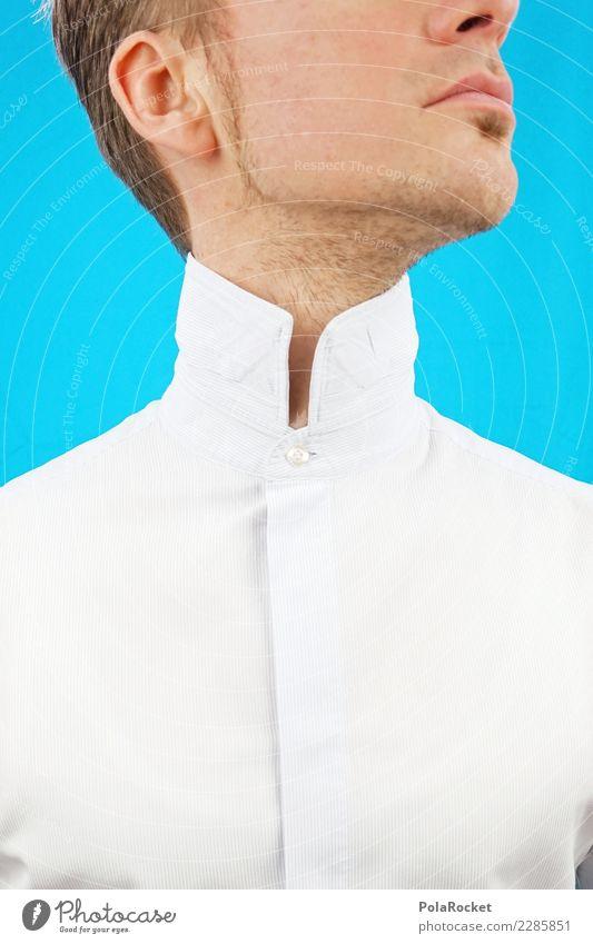 #AS# Hoher Kragen III Mensch maskulin 1 ästhetisch oben Blick nach oben Anzug Business Börse Bankkaufmann Versicherungskaufmann edel geschniegelt Hemd