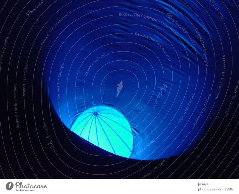 Abstrakte Harmonie Luft Licht Ball blau harmonisch Mond mehrfarbig Gummi Zelt Architektur luminarium